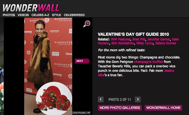 Teuscher Chocolate Selected for MSN's WonderWall Valentine's Day Gift Guide by teuscherBH