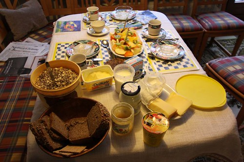Great and healthy brekkie table with Dietmar in Oldenburg...