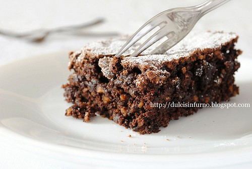 Torta di Nocciole e Cioccolato-Chocolate and Hazelnut Cake