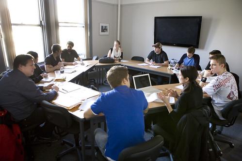 VFS Writing students workshop a script
