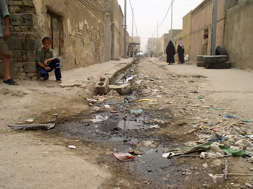 a sewer overflow in Sadr City (by: Christian Peacemaker Teams, creative commons license)
