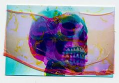 Skull F*cked (AndyWilson) Tags: film 35mm polaroid skull hove manipulation olympus stylus layers epic mjuii pogo peeled soaked zink boothmuseum cmynok