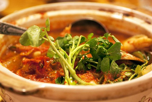 spicy monkfish stew @ yuraku
