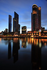 Melbourne at dawn (kth517) Tags: nightshot australia melbourne eurekatower crowncasino yarrariver canonefs1022mm canon40d melbourneatdawn