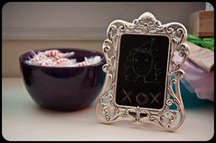 Ornate Recycled Frame Tiny Chalkboard