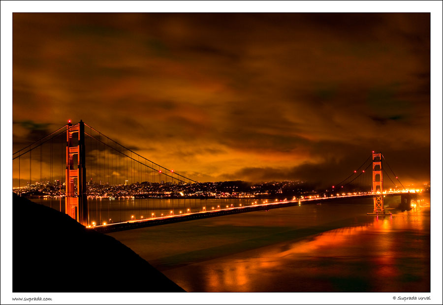 Golden Gate Bridge at Night - 1