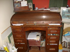 Oak roll top desk (muralist1) Tags: furniture badgers copse
