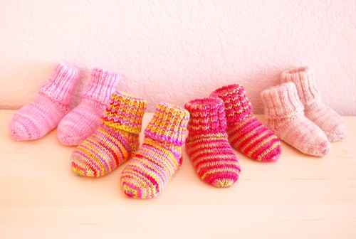 Handknit socks from Kim