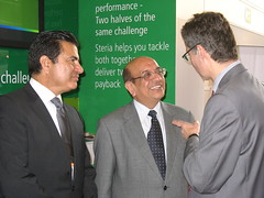Som Mittal with Mukesh Aghi and Francois Enaud