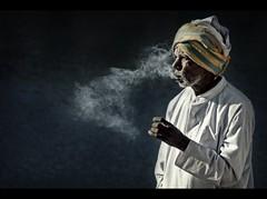 Holy Smoke...? (rAmmoRRison) Tags: portrait india smoke karnataka melkote bangalorephotographer rammorrison krishlikesit