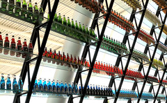 Wall Of Pop (Pixel Seeker) Tags: oklahoma glass wall architecture route66 bottles soda ok pops shelves arcadia flavors softdrink thepinnaclehof thepinnacleblog tphofweek55