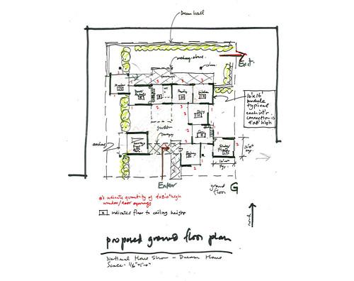 2010 Dream Home: Ground Floor Plan Sketch
