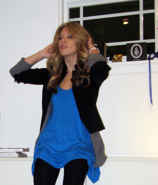 blue tunic black blazer-3