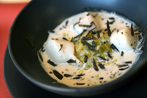 truffles and scallops