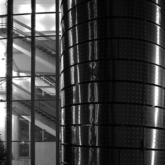 fire escape (vaquey) Tags: bw monochrome architecture night germany well staircase nightlight fireescape karlsruhe 15s starirway 41mm rightoutofthecam vaquey speziatode