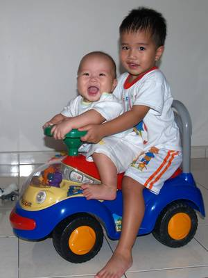 Julian and Justin on a joyride