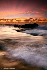 Morning Flow (-yury-) Tags: ocean morning sea seascape beach water sunrise flow waves sydney australia turimetta