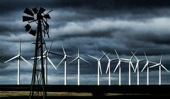 windmills then and now - explore (Marvin Bredel) Tags: lighting oklahoma clouds contrast cloudy dramatic windmills alternativeenergy explore marvin windfarm windpower thenandnow oldandnew windturbines weatherford interestingness140 i500 selectivelighting marvin908 bredel marvinbredel