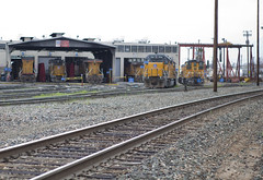 Roseville Yard (knelson27) Tags: train pacific union trains locomotive bnsf c45 p42 c44 mp15
