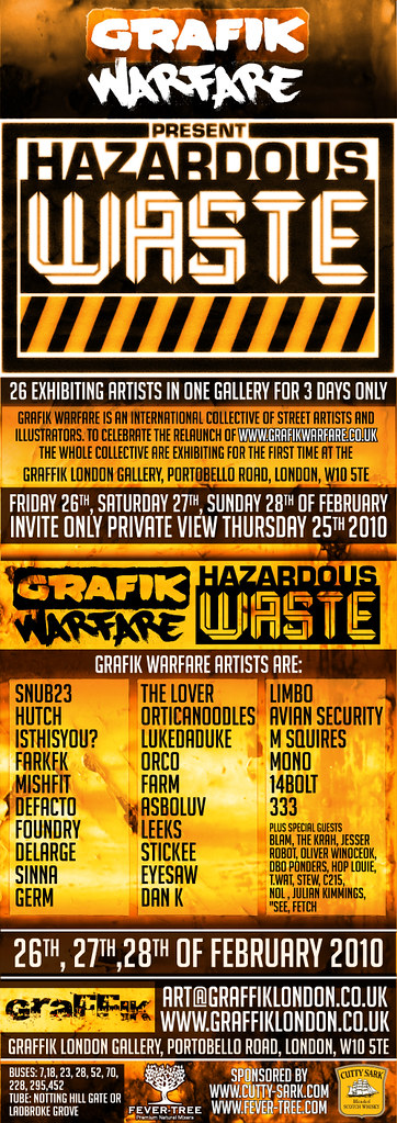 GRAFIK WARFARE SHOW IN LONDON