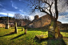 Vaugines 3 (marcovdz) Tags: france tree church cemetery grave ancient village tomb churchyard provence arbre glise hdr ancien tombe cimetire 3xp lubron vaugines