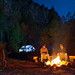 Cottonwood Camp campfire by WorldCast Anglers