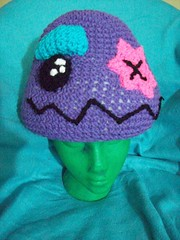101_1106 (CrazyHatSociety) Tags: halloween rainbow purple cosplay handmade humor adorable hats creepy etsy geekery deadbaby neoncolors ravelry crazyhatsociety threadknits tauntonstitchandbitch