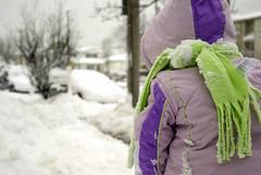 yup blizzard No 2 (2010) (citygirlny10305) Tags: winter green scarf purple naturallight snowing snowsuit 2010 bilizzard