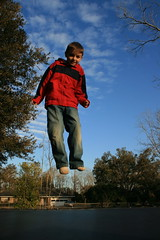 IMG_0264 (tabiii) Tags: red kids fun seth jumping louisiana play shot action country trampoline slaughter jumpi