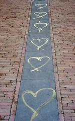 Road to love (ralukatudor) Tags: street urban italy love hearts florence strada italia symbol firenze urbano cuore amore pavimenti