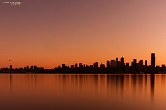 Echo (djniks) Tags: seattle reflection beach water silhouette skyline skyscraper sunrise downtown cityscape stephen alki westseattle alkibeach polarizer elliotbay waterscape nikky sigma1020 cplfilter canon40d bw11010stopfilter nikkystephen renteracar wokeupat530amonaweekendforthefirsttime nexttosaltysrestaurant
