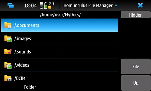 Homunculus File Manager for N900