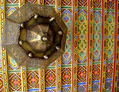 Fez - Art (intasko) Tags: voyage trip roof color detail art beauty landscape design paint pattern handmade muslim islam traditional decoration craft ceiling peinture vision arab fez maroc moorish marocco maghreb oriental couleur fes islamic plafond arabesque artisanat babboujloud alfassi zalidj