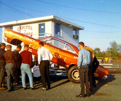 DYNO DON NICHOLSON COMET FUNNY CAR AT CAPITOL RACEWAY IN MAY OF 1967 (THE ENIGMATIC TRAVELER) Tags: maryland comet funnycar donnicholson dynodon capitolraceway nostagliadrag