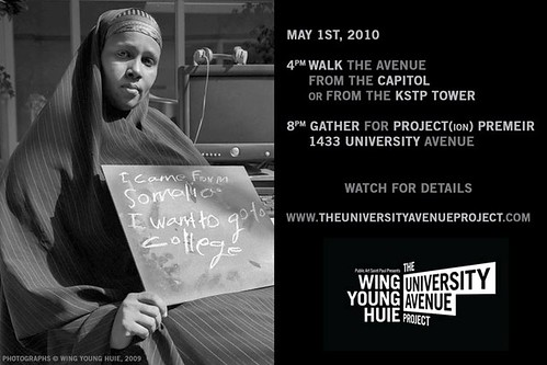 Wing Young Huie, University Avene Project opens May 1, 2010