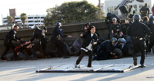 Students protest, shut down Oakland freeway for March 4 'Day of Action'