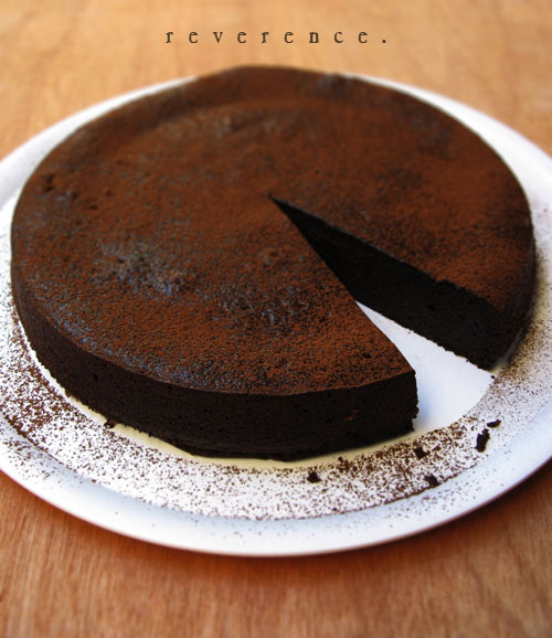 Chocolate, Almond Cake