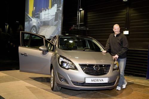 André Lange mit Opel Meriva