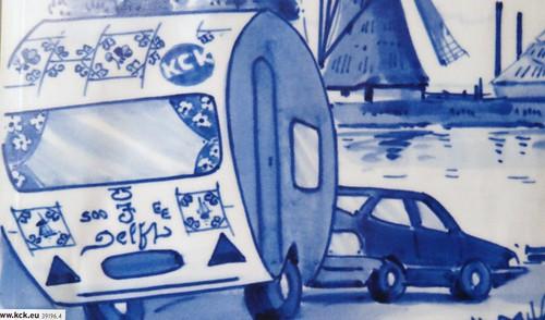 Delfts blue caravan