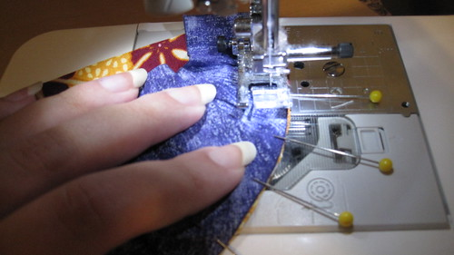 Sewing the block.