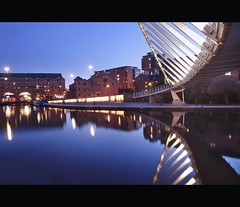Castlefield (i.rashid007) Tags: uk manchester evening nightshot bluehour citycenter castlefield deansgate