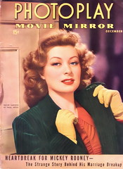 Greer Garson on the cover of Photoplay, December 1942 (Silverbluestar) Tags: ladies girls red color green classic film beautiful beauty yellow vintage magazine stars glamour women pretty european dress womens redhead 1940s jacket gloves cover hollywood actress movies british celebrities 1942 mgm corduroy elegance academyaward oscarwinner photoplay womens greergarson metrogoldwynmayer