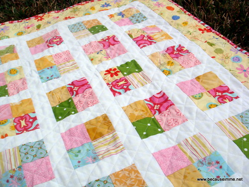 girls four square quilt