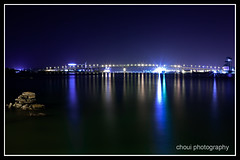 Under the Bridge (choui168) Tags: longexposure bridge nightshot tripod cebu 5d usm mactan 2470mm f28l shuttercord