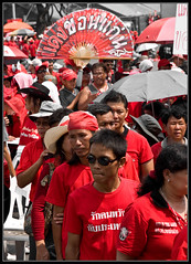 Lined Up To Give Blood (ebvImages) Tags: thailand protest redshirts udd