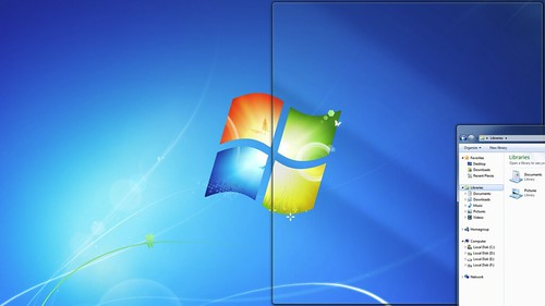 Windows 7 subscreen partitions
