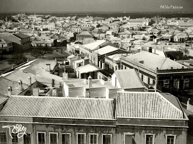 neige à Faro au Portugal début février 1954