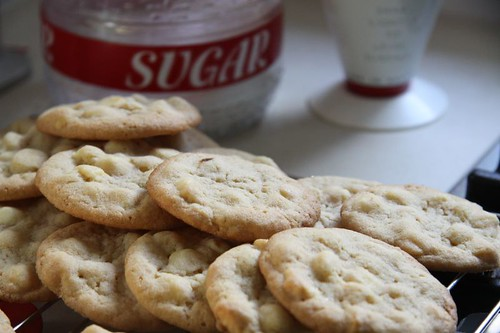 White chocolate cookies...