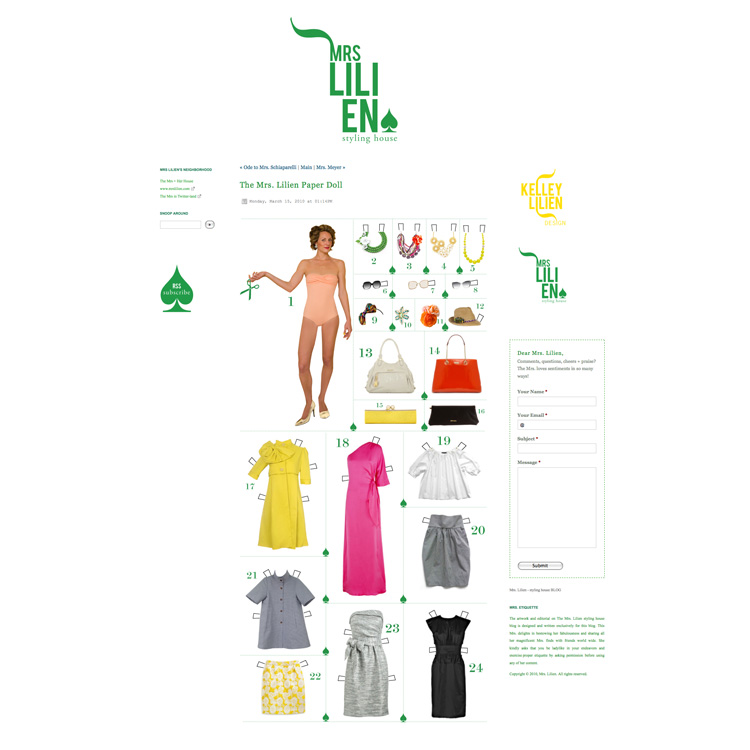 mrs. lilien paper doll