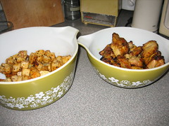 Baked Celeriac & Thai Chicken (vonlipi's favorites) Tags: bowl casserole cinderella 442 475 pyrexinaction springflowergreen